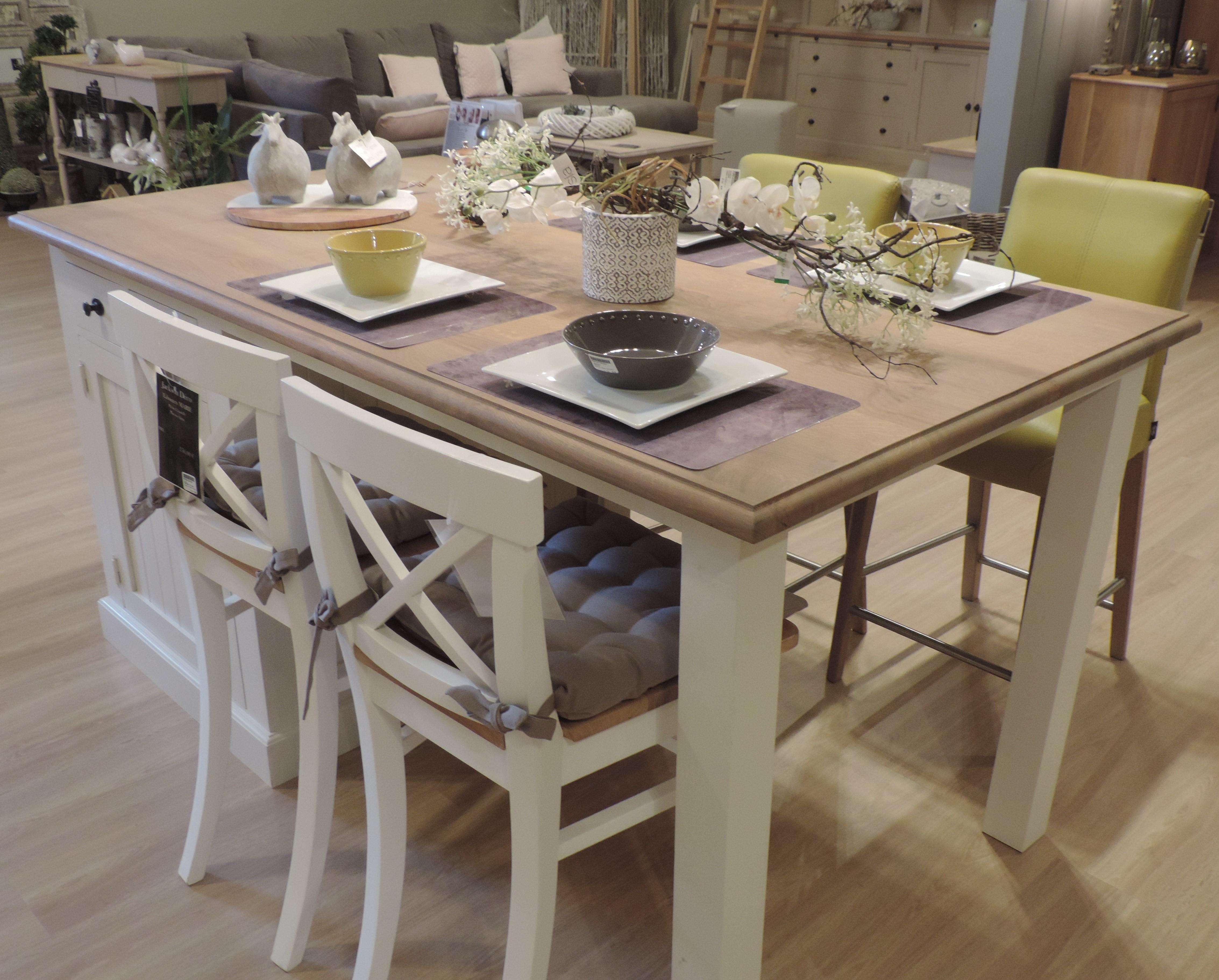 table ilot maddy jackson jackson d co. Black Bedroom Furniture Sets. Home Design Ideas